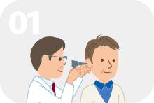1年に2回以上、中耳炎にかかる。