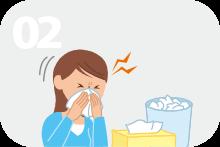 1年に2回以上重症副鼻腔炎を繰り返す。