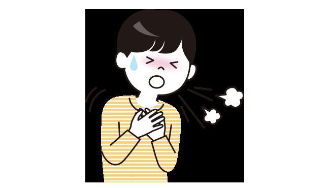 気管支炎や肺炎は、きちんと治っていないと慢性化して呼吸困難になることがあります。